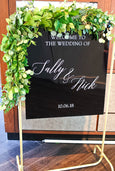 Black Acrylic Wedding Decor Inquiry