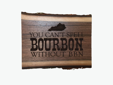 Bourbon BBN Walnut Plaque