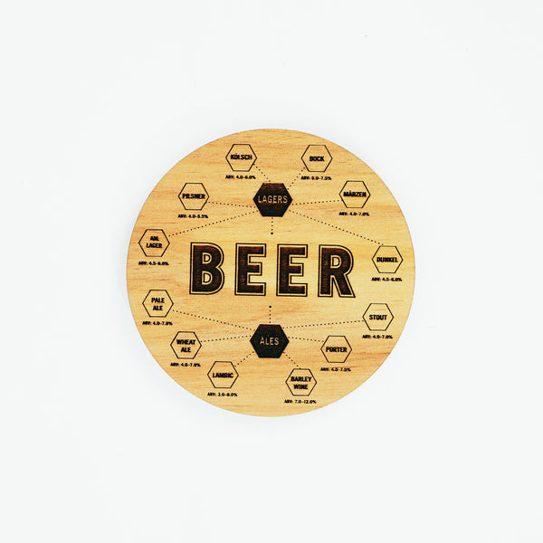Beer Chart Coasters