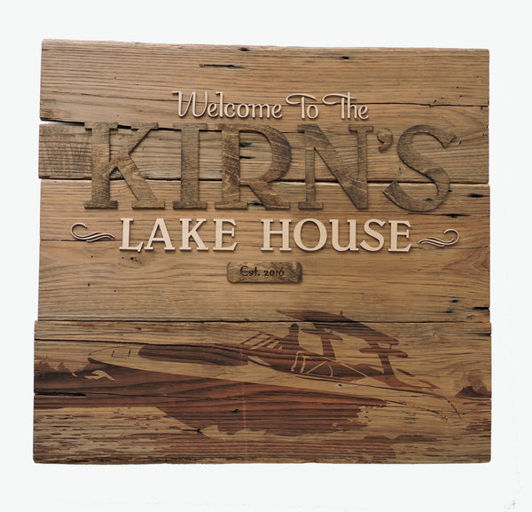 Personalized Image Barn Wood Sign