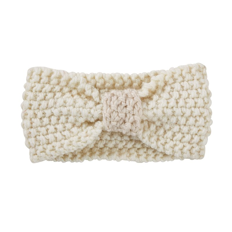 Cream Knit Headband
