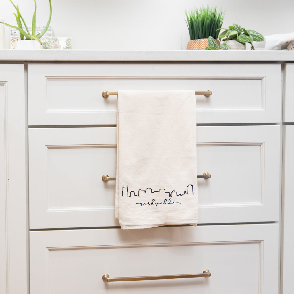 City Skyline Natural Flour Sack Towel