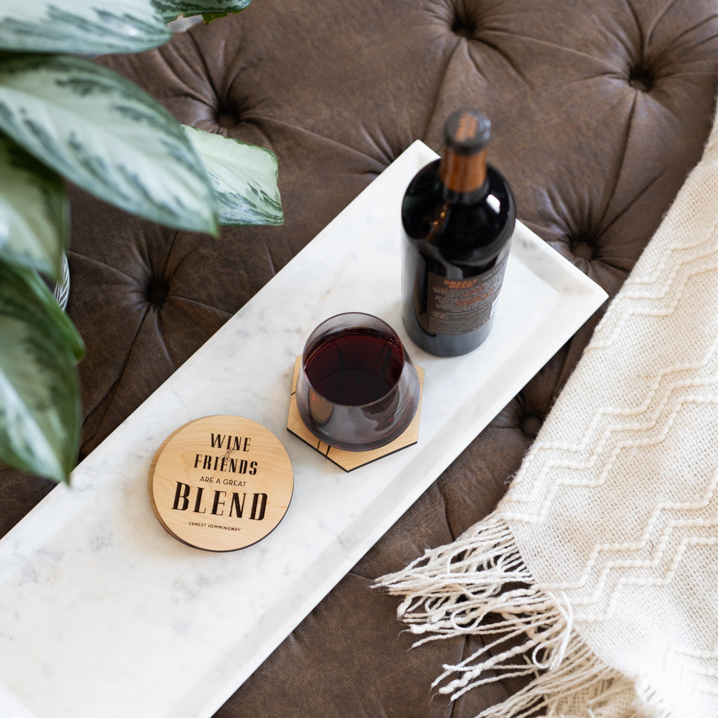 Wine and Friends Coasters