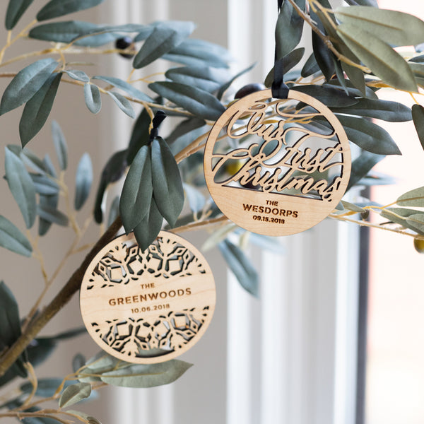 Personalized Couple or Family Ornament