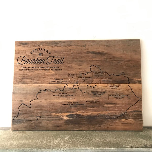 Kentucky Bourbon Trail Barn Wood Sign