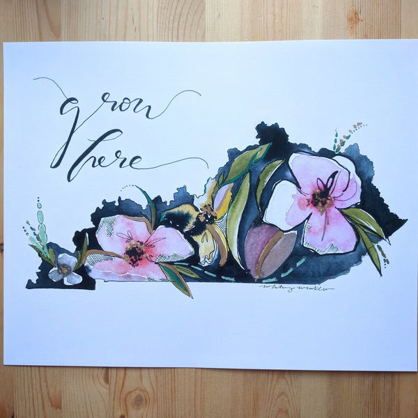 "Floral Print - ""Grow Here"" KY and Ohio"