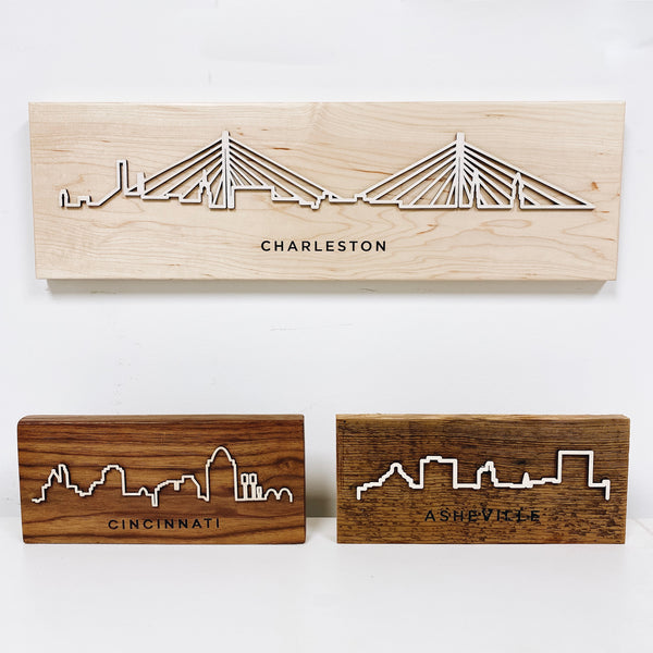Hard Wood City Scape