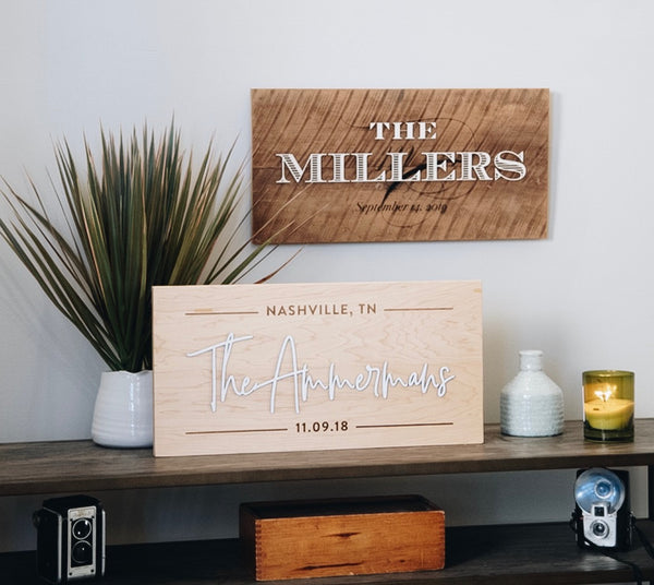 Personalized Last Name Barn Wood Sign