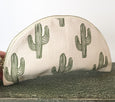 Half Moon Canvas Cosmetic Bag