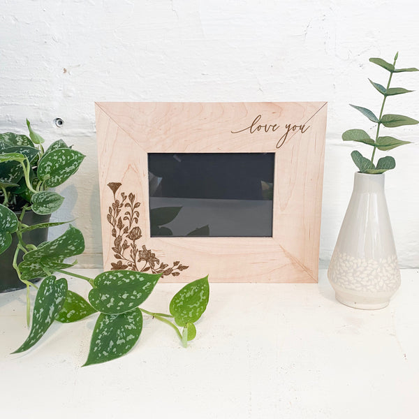Mother's Day Light Wood Frame