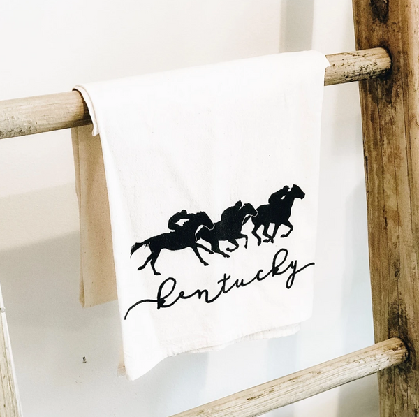 City/State Icons Natural Flour Sack Towel