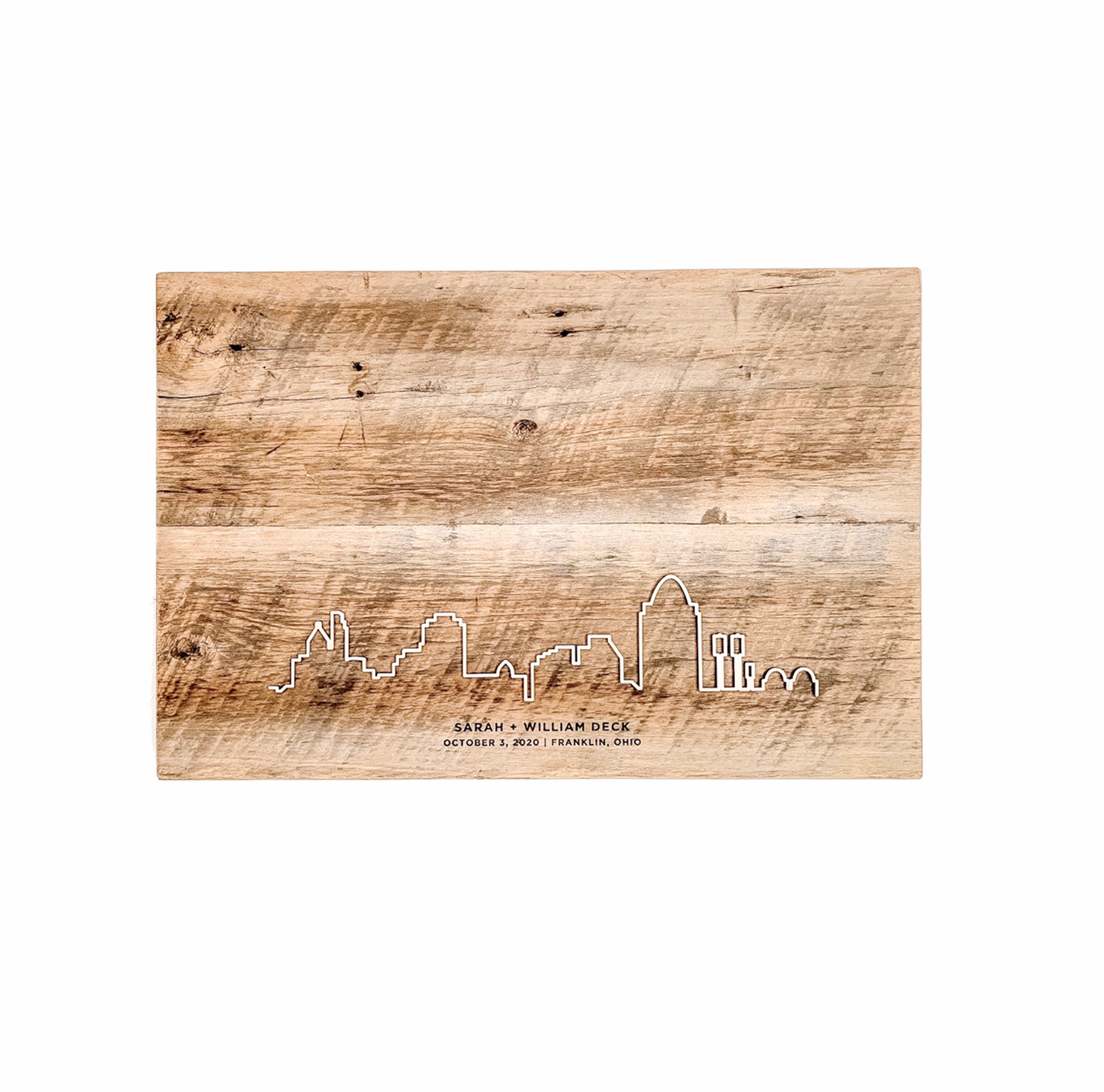 Personalized City Barn Wood Guest Book