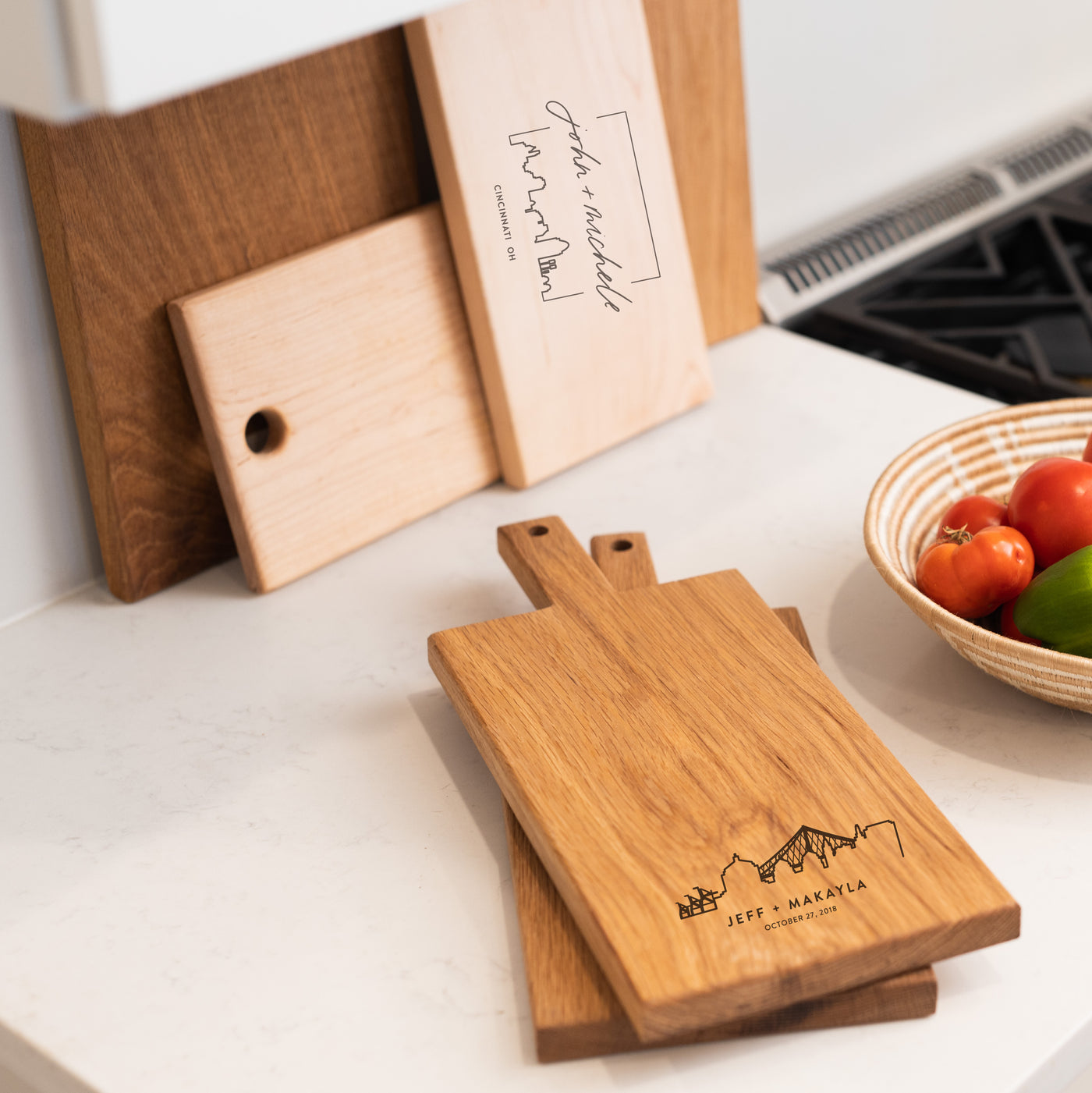 Personalized City Cutting Board