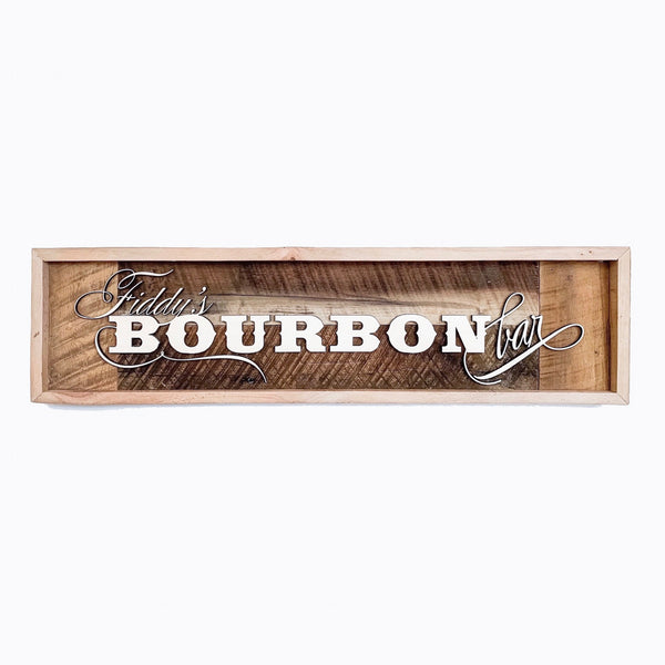 Personalized Bourbon Bar Barn Wood Sign