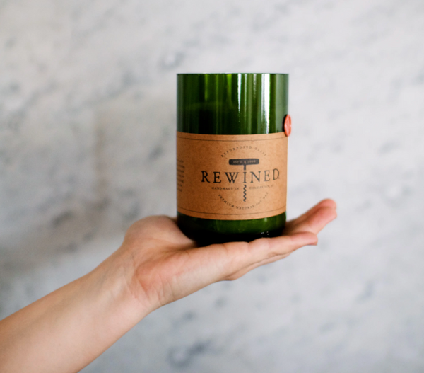 Repurposed Wine Bottle Soy Candle - Various Scents