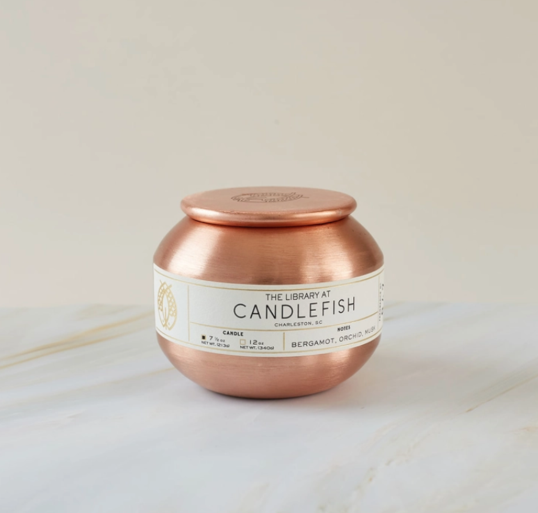 Rose Gold Tin Candle