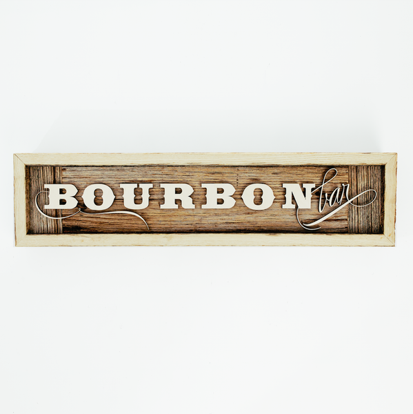 Bourbon Bar Barn Wood Sign