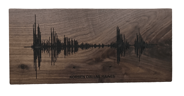 Soundwave Art Solid Walnut Plaque