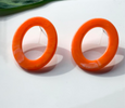 Apricot Acrylic Circle Earrings