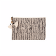 Heather Block Print Pouch - 3 Colors