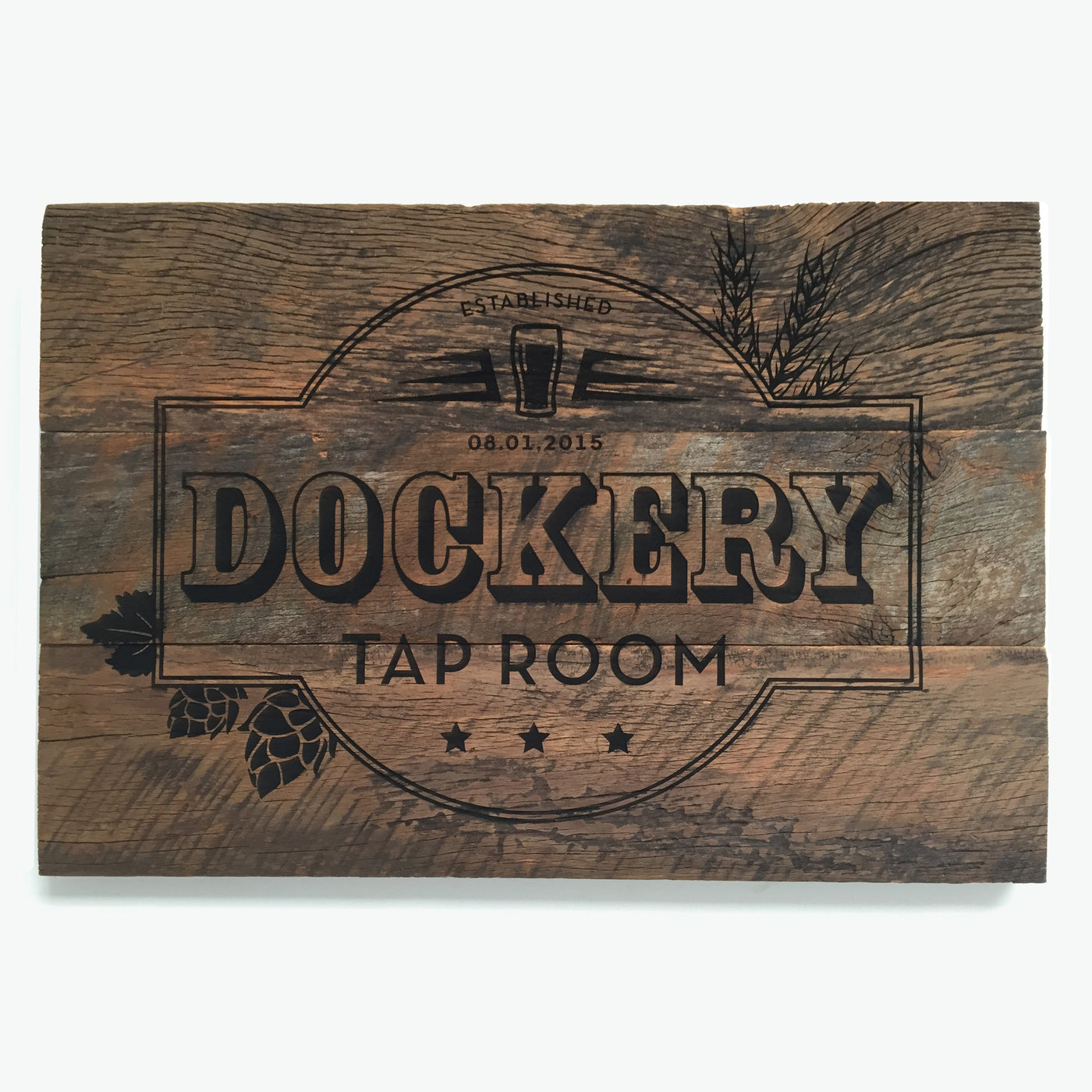 Personalized Tap Room Barn Wood Sign