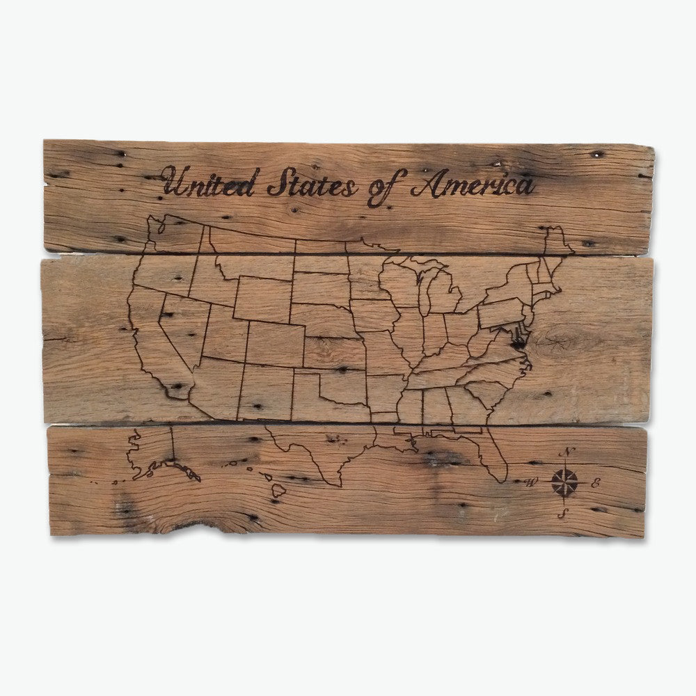 USA Pin Your Travels Barn Wood Map Grainwell – Maps To Pin Your Travels