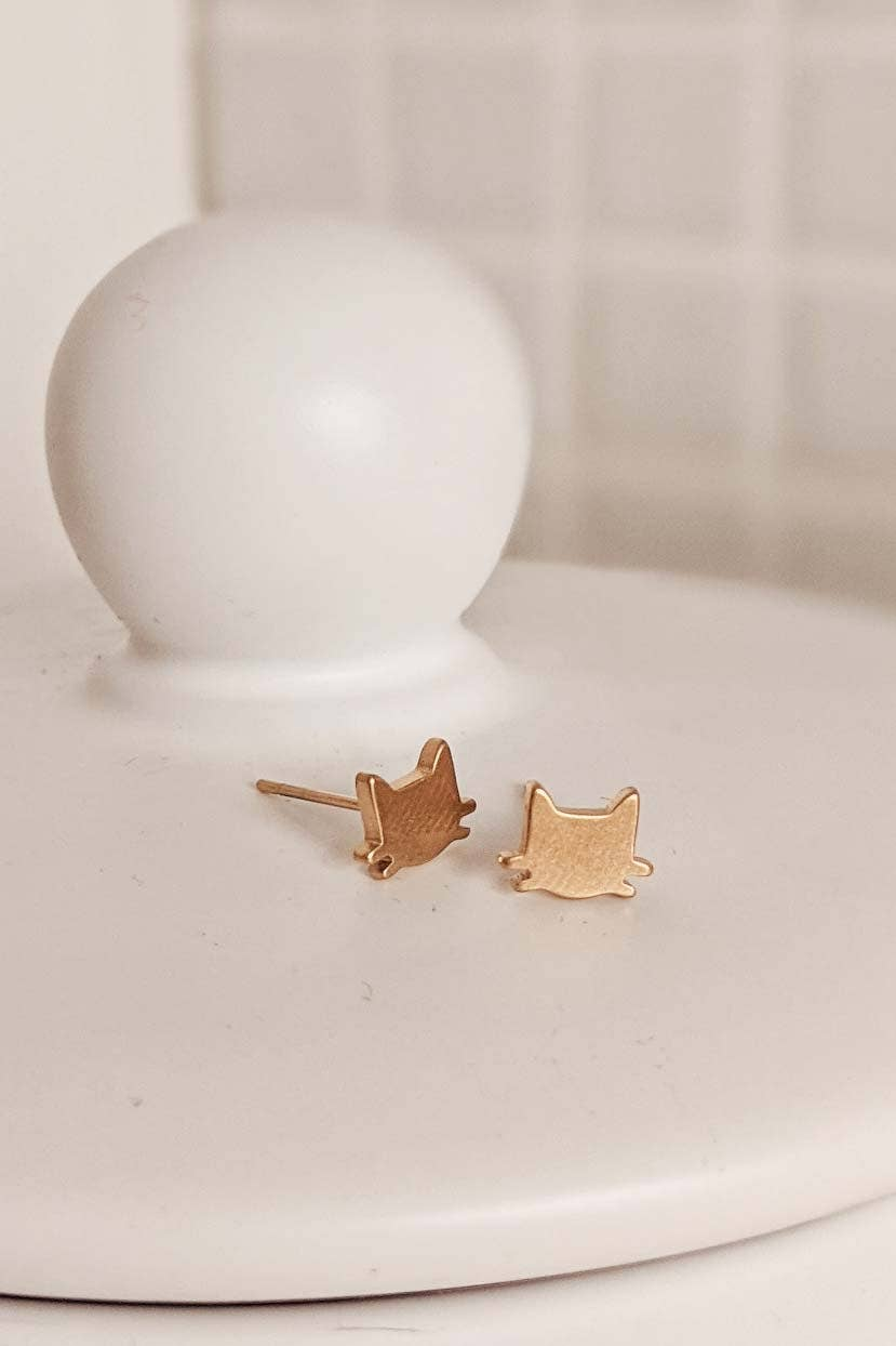 Cats Stud Earring