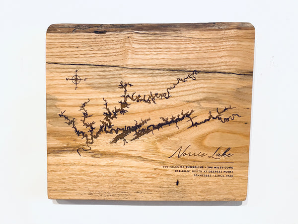 Live Edge Lake Plaque