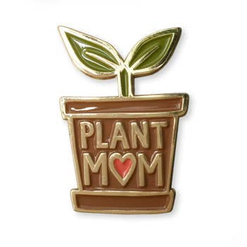 Plant Mom Enamel Pin
