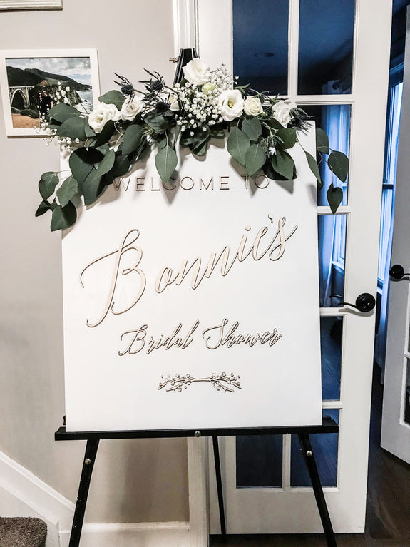 Personalized Shower Sign