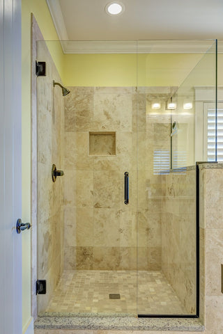 How to remove stains from shower door
