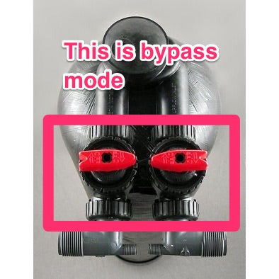 upflow carbon filter in bypass