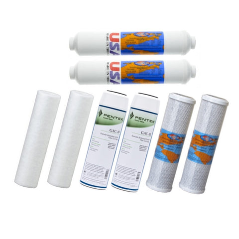 Aquasafe Canada Home II + Remineralization Reverse Osmosis Replacement Filter Cartridge Bundle