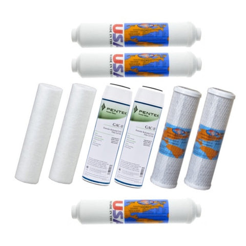 Aquasafe Canada Maximus II + Remineralization Reverse Osmosis Replacement Filter Cartridge Bundle