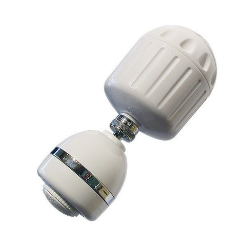 Sprite Plastic Shower Filter in White with Shower Head (HO2-WH-M)