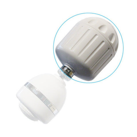 Sprite Plastic Shower Filter with White Finish (HO2-WH)