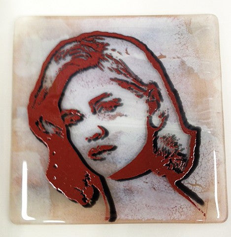 GOOD GIRL GLASS PLATE - Stouffer Studios