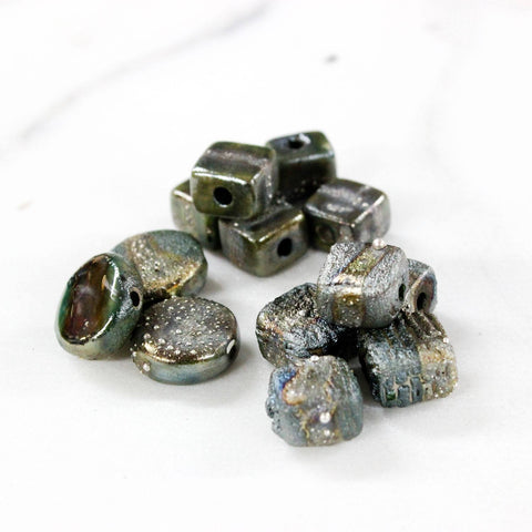 CERAMIC BEADS WITH SILVER METAL CLAY - Stouffer Studios - 1