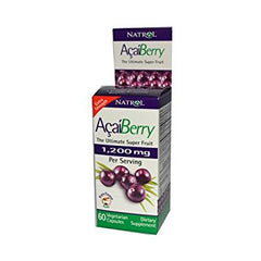 2 Packs of Natrol Acaiberry Extra Strength - 1200 Mg - 60 Vegetarian Capsules