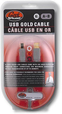Geek SquadTM 6' USB 2.0 A/B Cable