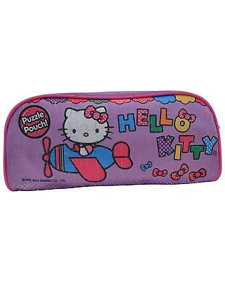 Hello Kitty 100 Piece Puzzle with Carrying Case Pencil Bag NEW