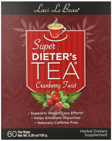 Super Dieter's Tea-Cranberry Twist 60ct Super Dieter's Tea-Cranberry Twist 60ct box Natrol