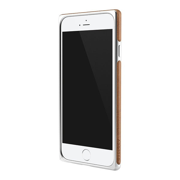 ADOPTED Leather Frame Case for Apple iPhone 6, iPhone 6s in Silver/Brown - APH13224