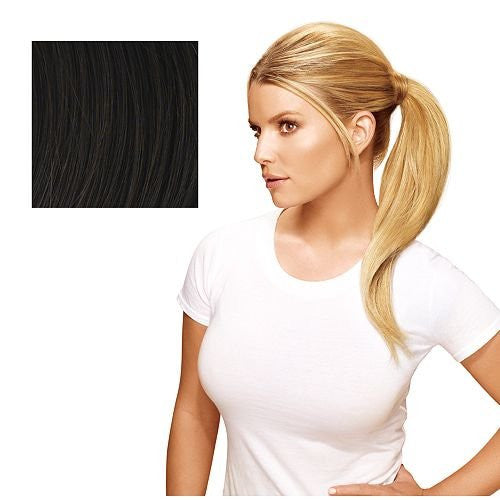 Hairdo 18 inch Simply Straight Pony Tru2Life Heat-Friendly Synthetic Ponytail Midnight Brown