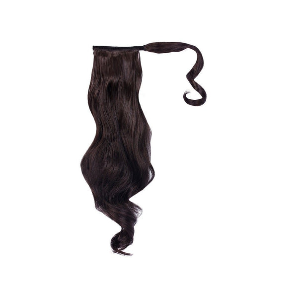 "Jessica Simpson 23"" Wrap Around Pony Hair Extensions R4 Midnight Brown"