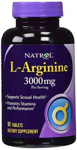 Natrol L-Arginine 3000 mg Tablets, 90-Count by Natrol