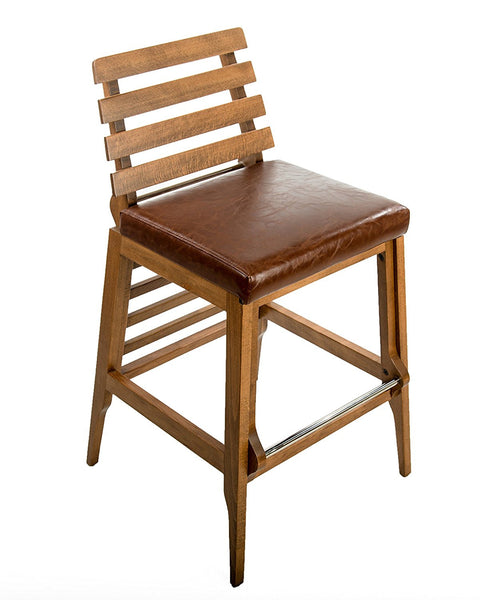 Destiny 30 inches Bar Stool Chair - Brown Leather