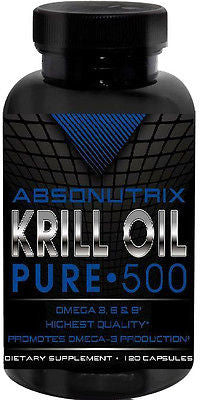 Absonutrix Krill Oil Pure 500mg Each Omega 3,6+9 120 SG