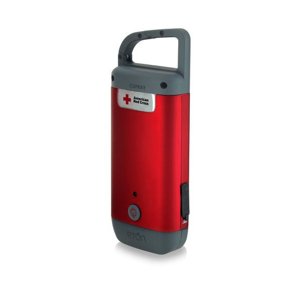 American Red Cross Clipray Clip-On Flashlight and Smartphone Charger, ARCCR100R-SNG