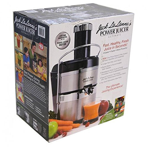 Jack Lalanne's JLSS Power Juicer Deluxe Stainless-Steel Electric Juicer MSRP $359